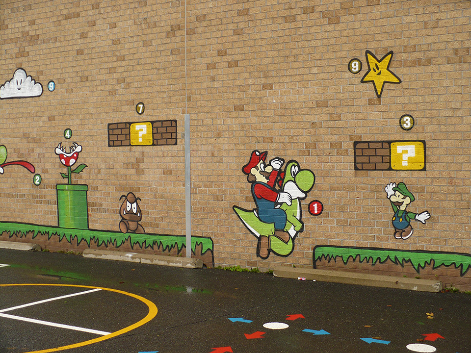 Favori Marquage de jeux scolaires - Marquage pour cours d'école | Indik HP75