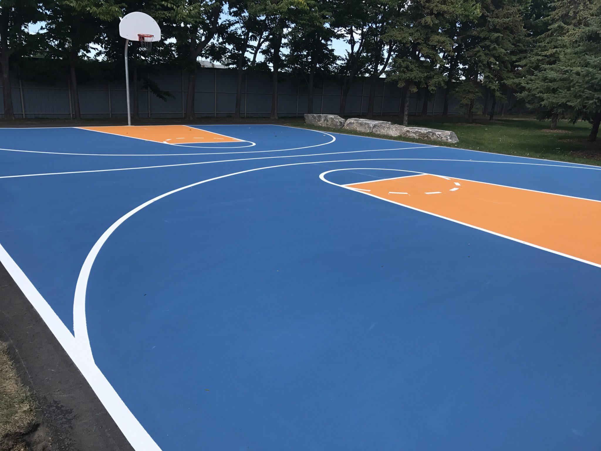 Sol Terrain De Basket recovering a sports field | indik inc.